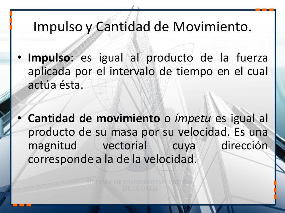 Impulso y Cantidad de Movimiento.