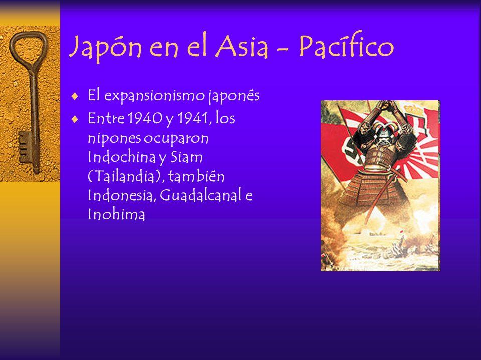 Pearl Harbour 1941 El 7 de diciembre de 1941, Japón sin mediar declaración de guerra atacó la base naval de Pearl Harbour, a fin de eliminar la oposición norteamericana a su expansión por el Pacífico Oriental.
