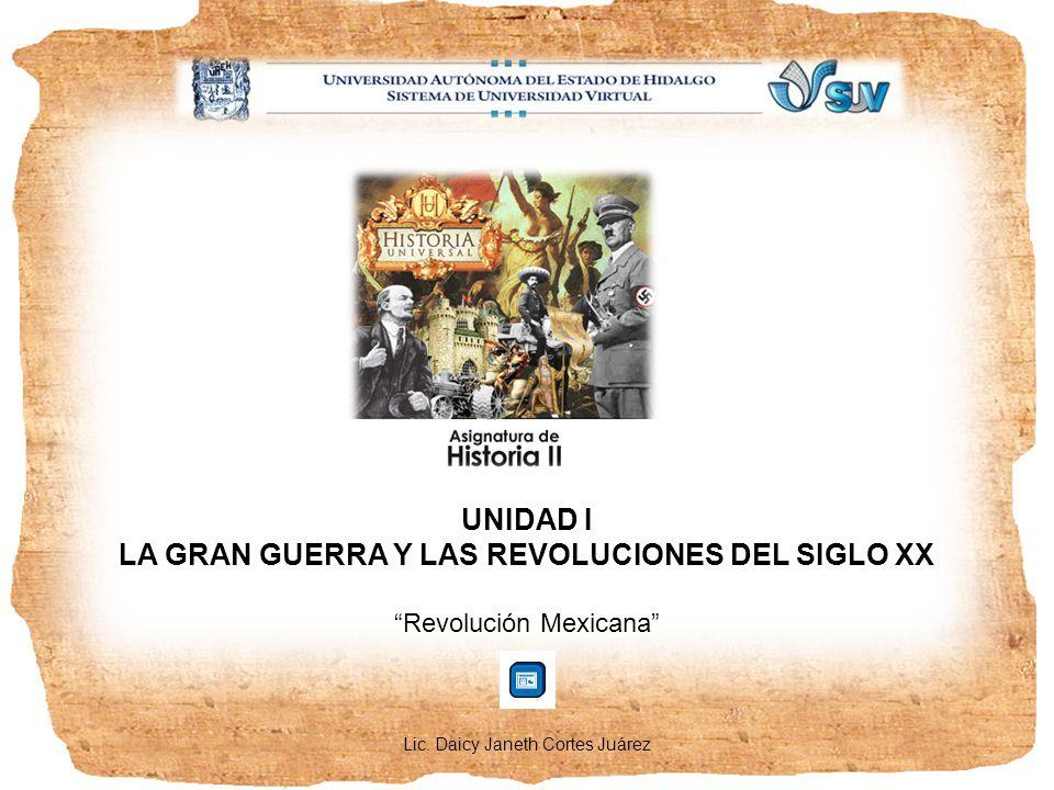 PRESENTACIÓN La revolución Mexicana iniciada por Francisco I.