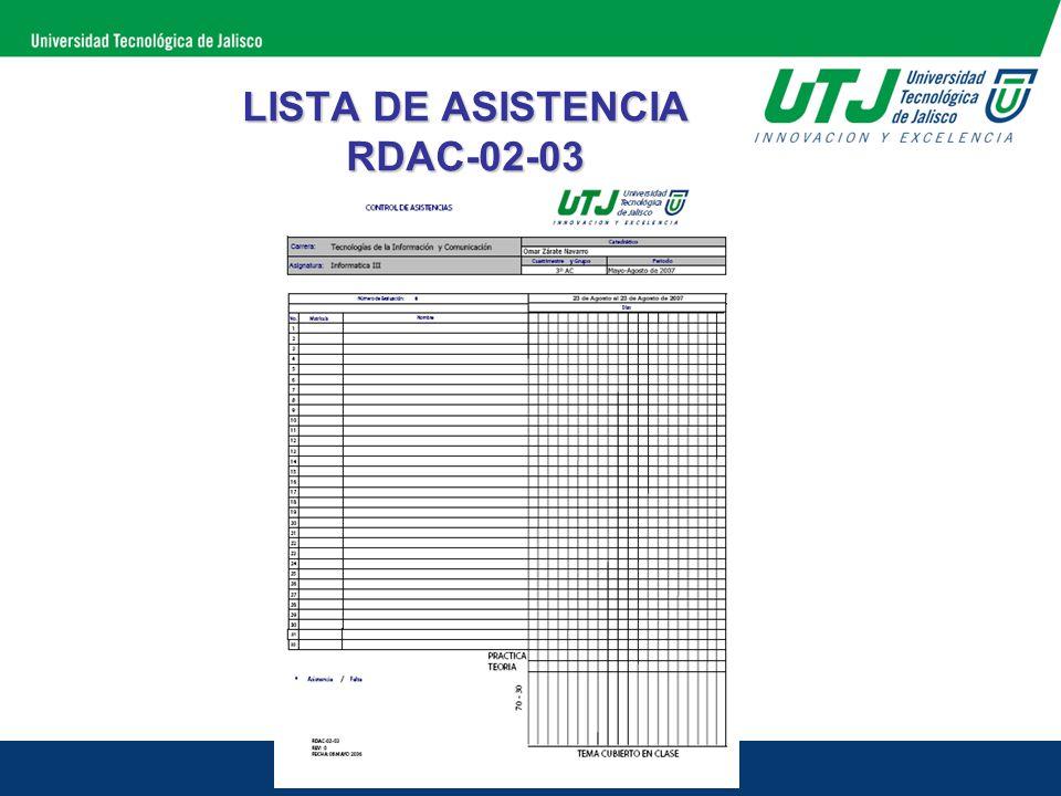 LISTA DE ASISTENCIA RDAC-02-03