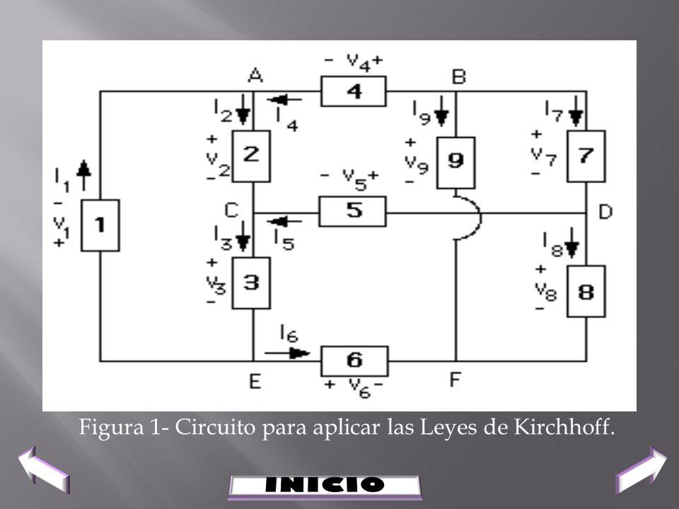Figura 1- Circuito para aplicar las Leyes de Kirchhoff.