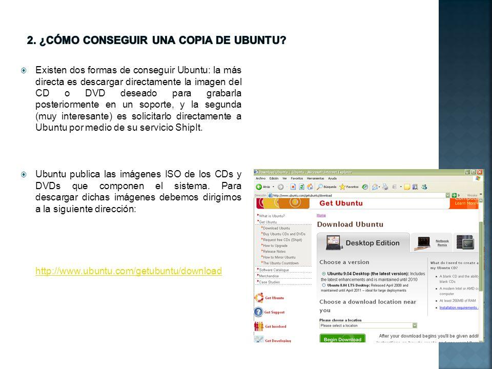 Allí nos encontraremos con la página de descarga de Ubuntu.