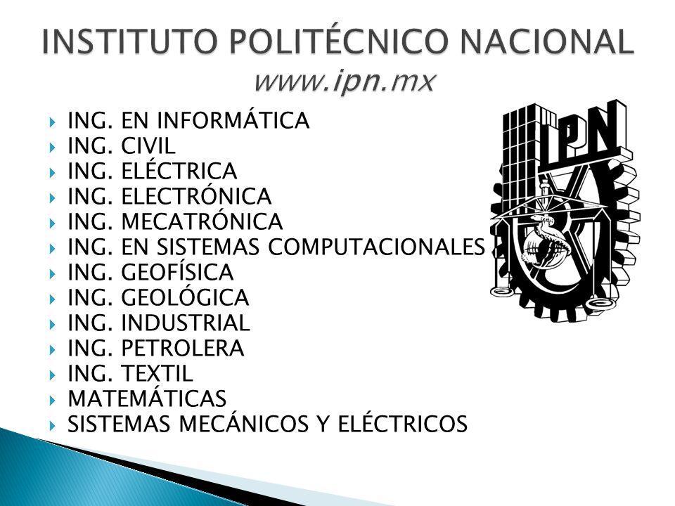 ACTUARÍA ING. EN SISTEMAS COMPUTACIONALES ING. EN TELEMÁTICA MATEMÁTICAS
