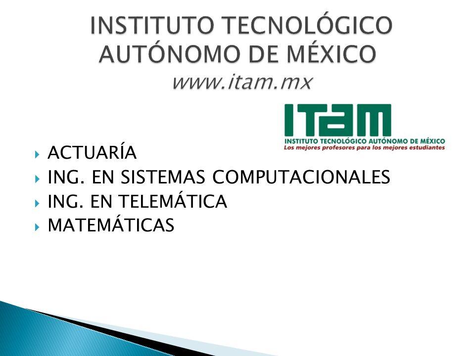 ING. INDUSTRIAL ING. MECÁNICA ING. MECANICO ADMINISTRADOR ING. EN ELECTRONICA Y COMUNICACIONES