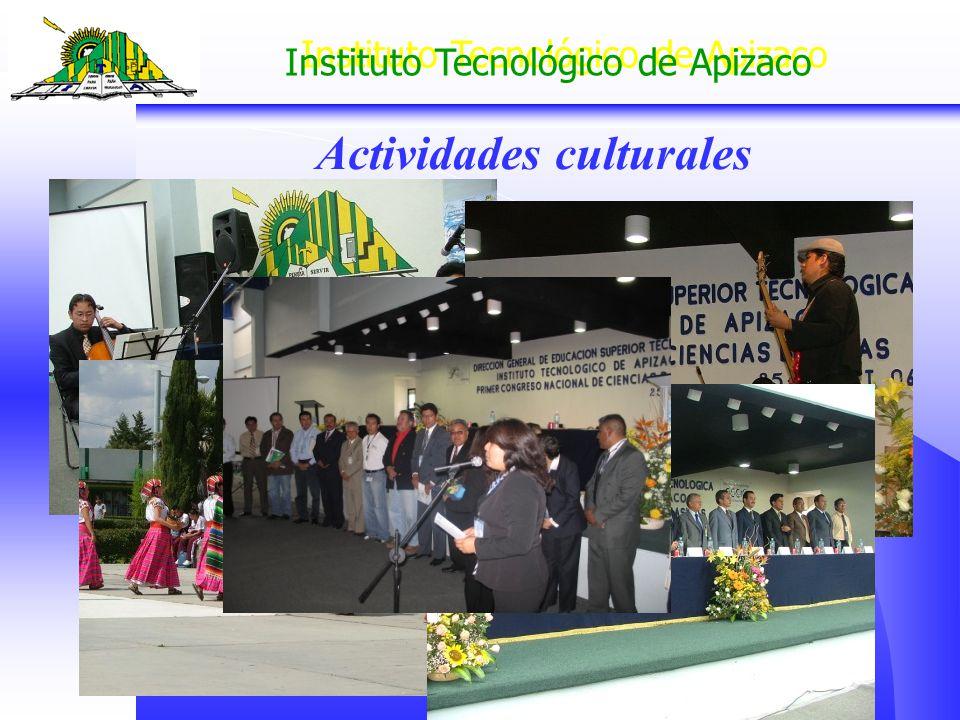 Instituto Tecnológico de Apizaco Actividades culturales
