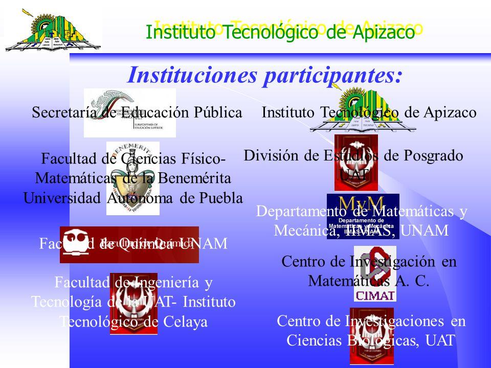 Instituto Tecnológico de Apizaco División de Estudios de Posgrado UAT Secretaría de Educación Pública Instituto Tecnológico de Apizaco Facultad de Cie