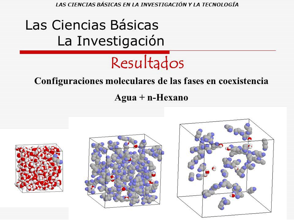 LAS CIENCIAS BÁSICAS EN LA INVESTIGACIÓN Y LA TECNOLOGÍA Las Ciencias Básicas La Investigación Resultados Configuraciones moleculares de las fases en