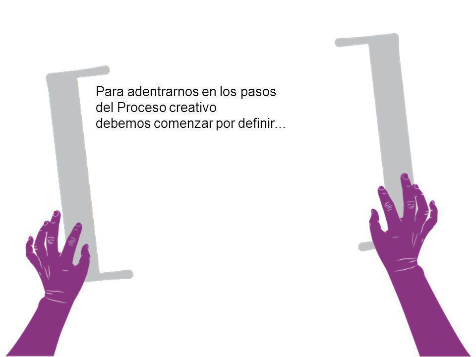 1.Planteamiento del problema El Proceso creativo Se identifica y plantea el problema.