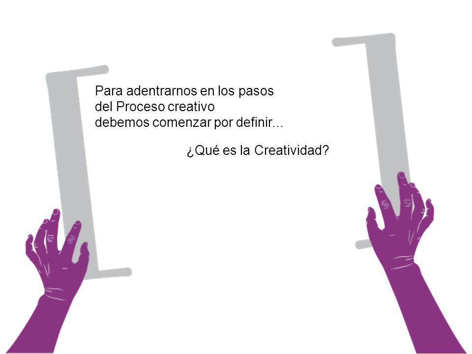 1.Planteamiento del problema El Proceso creativo 2.