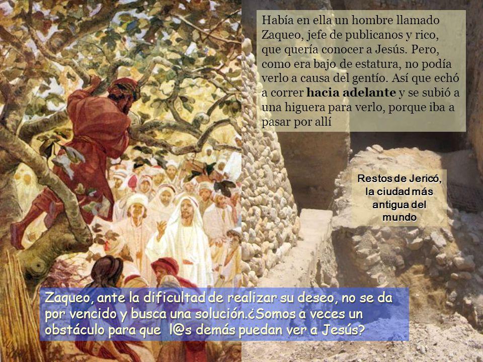Había en ella un hombre llamado Zaqueo, jefe de publicanos y rico, que quería conocer a Jesús.