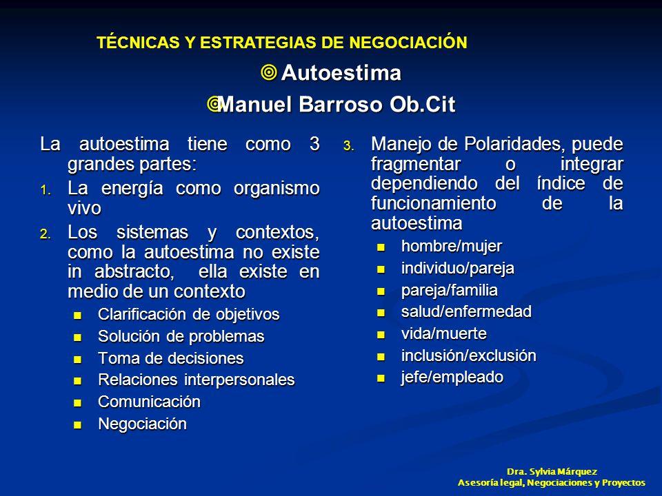 Autoestima Autoestima Manuel Barroso Ob.Cit Manuel Barroso Ob.Cit La autoestima tiene como 3 grandes partes: 1.