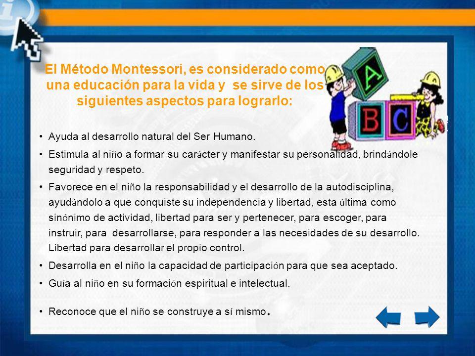 Las cuatro áreas del Método Montessori Vida pr á ctica.