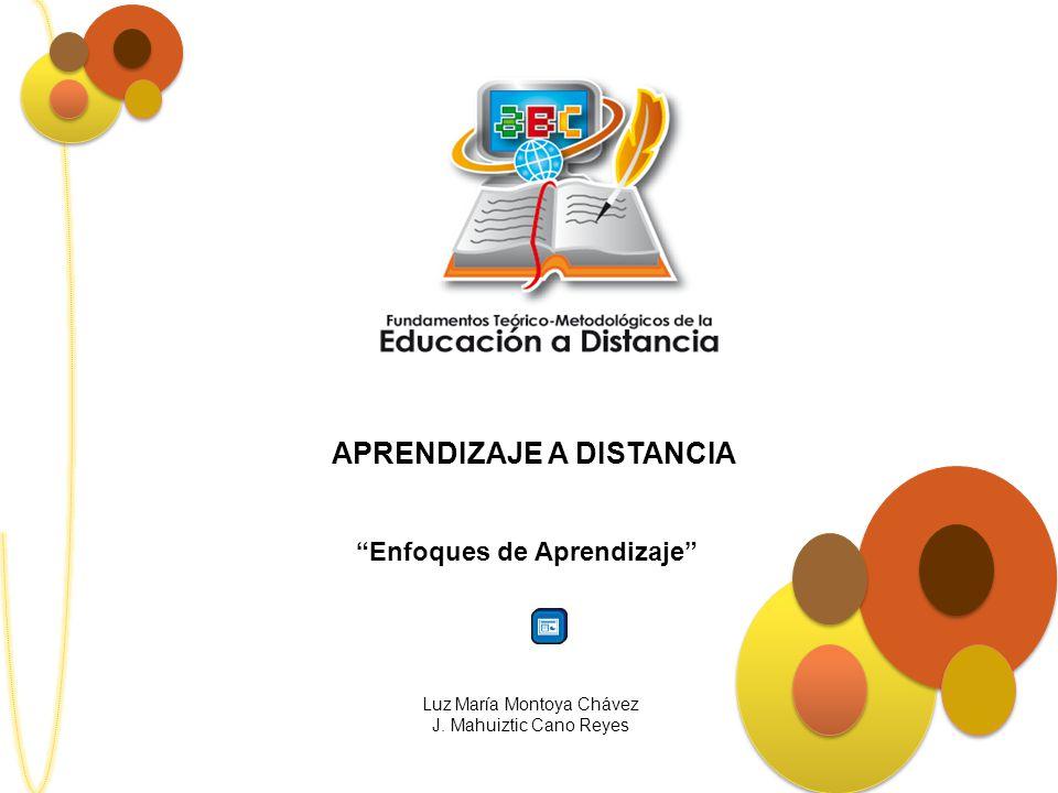 APRENDIZAJE A DISTANCIA Enfoques de Aprendizaje Luz María Montoya Chávez J. Mahuiztic Cano Reyes