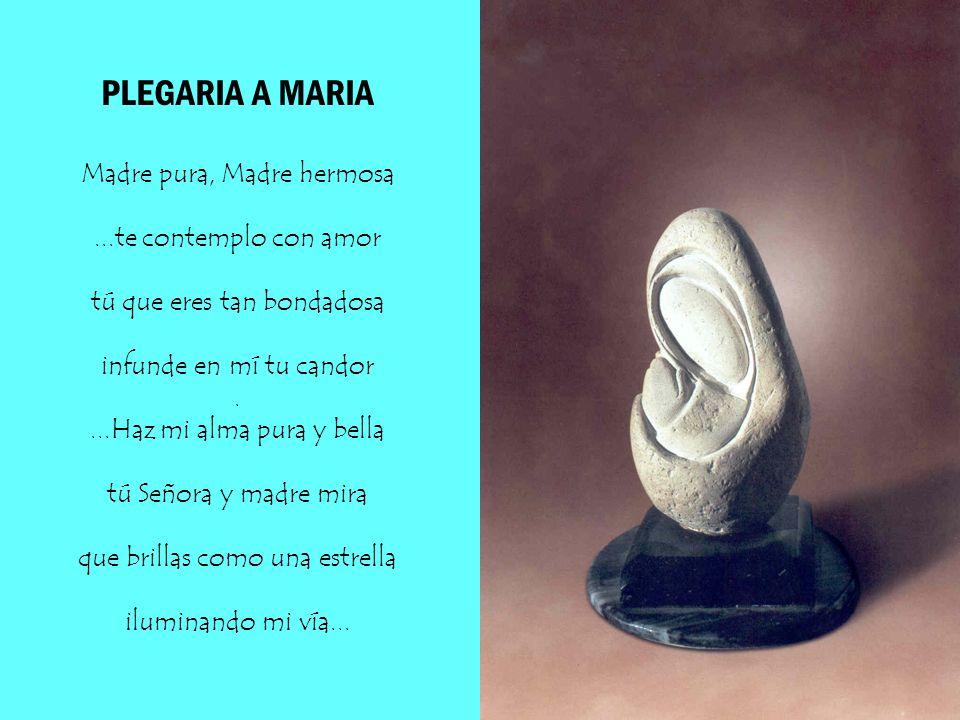 GRACIA PLENA...Hoy elevo mi trova a ti Virgen María manantial purísimo de gracia del Espíritu; por tu origen profético por tu Maternidad divina, universal y casta......Rehabilitaste a Eva...