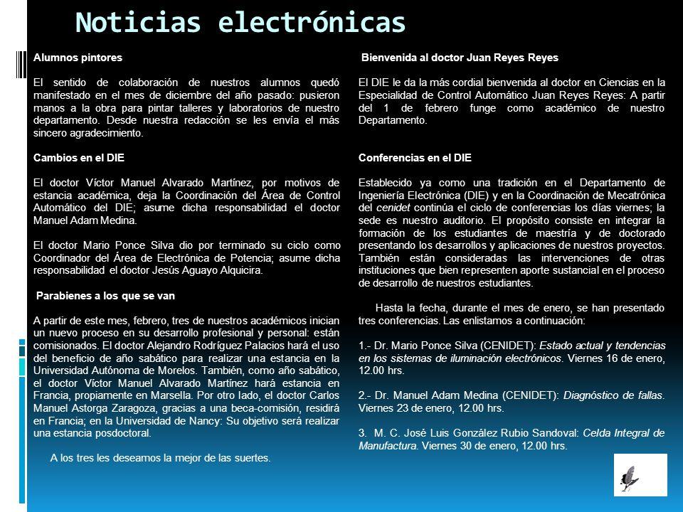 Noticias electrónicas Alumnos pintores El sentido de colaboración de nuestros alumnos quedó manifestado en el mes de diciembre del año pasado: pusiero