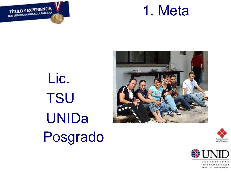 1. Meta Lic. TSU UNIDa Posgrado