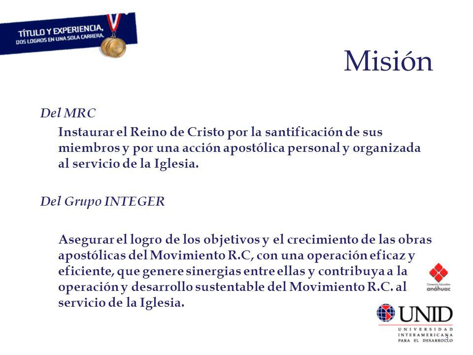 3 Misión Del MRC Instaurar el Reino de Cristo por la santificación de sus miembros y por una acción apostólica personal y organizada al servicio de la