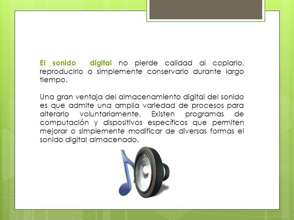 El archivo de audio puede ser guardado en el disco de una P, además este se puede retocar y aplicar diferentes efectos, generalmente llamados filtros.