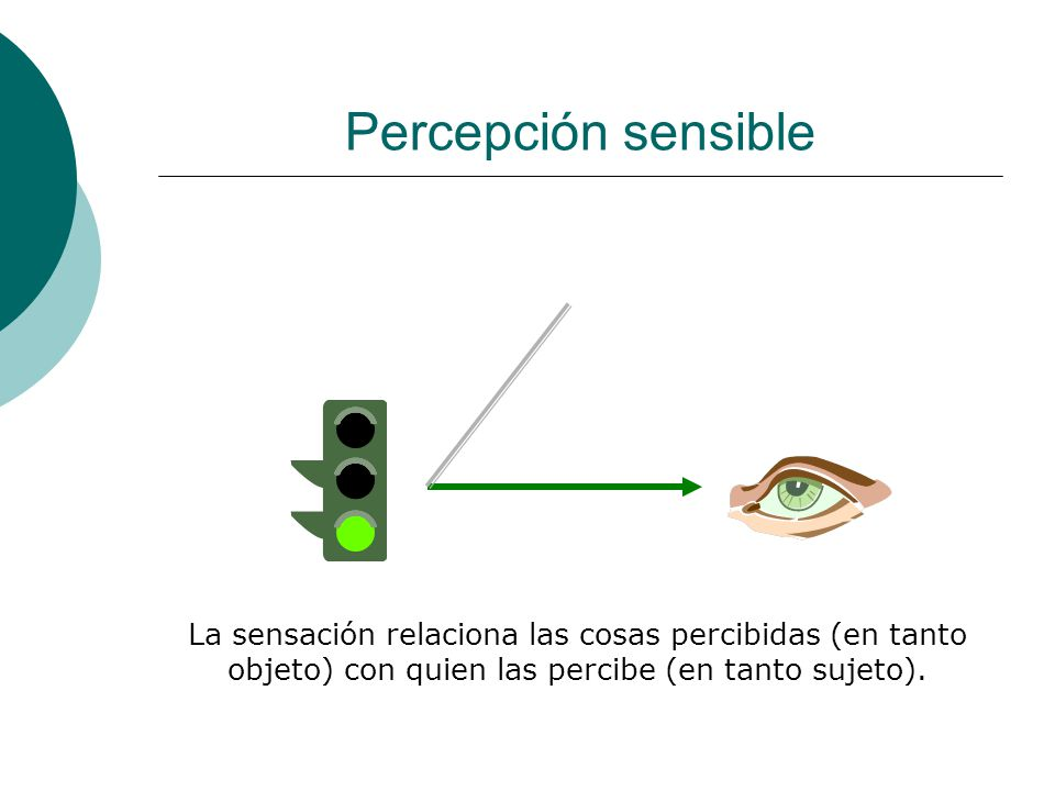 Percepción sensible La sensación puede variar por virtud de un cambio en la cosa percibida….