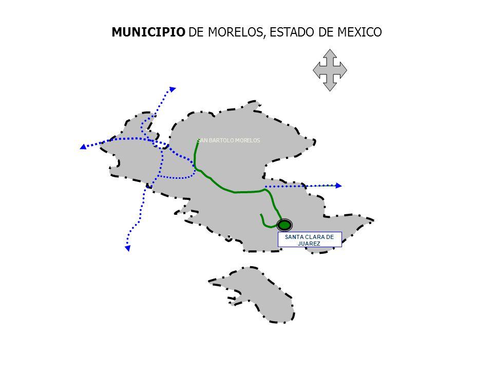 SANTA CLARA DE JUAREZ MUNICIPIO DE MORELOS, ESTADO DE MEXICO SAN BARTOLO MORELOS