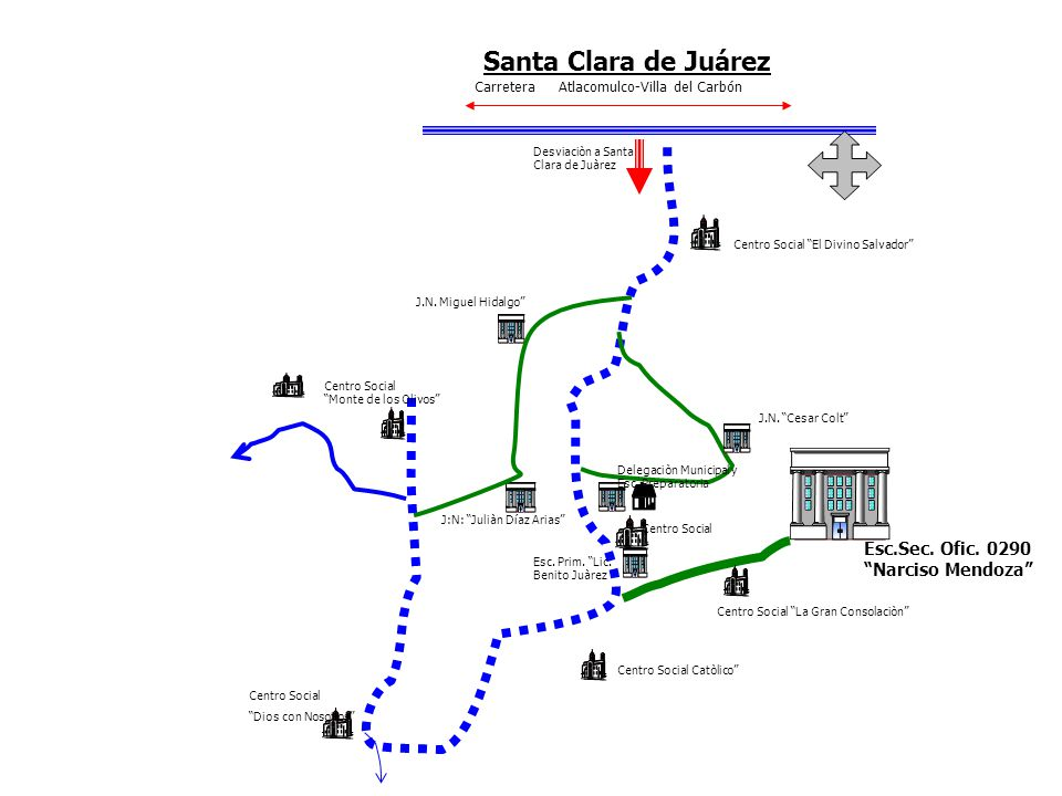 Esc.Sec. Ofic. 0290 Narciso Mendoza Centro Social El Divino Salvador Centro Social La Gran Consolaciòn Centro Social Catòlico J.N. Cesar Colt J:N: Jul