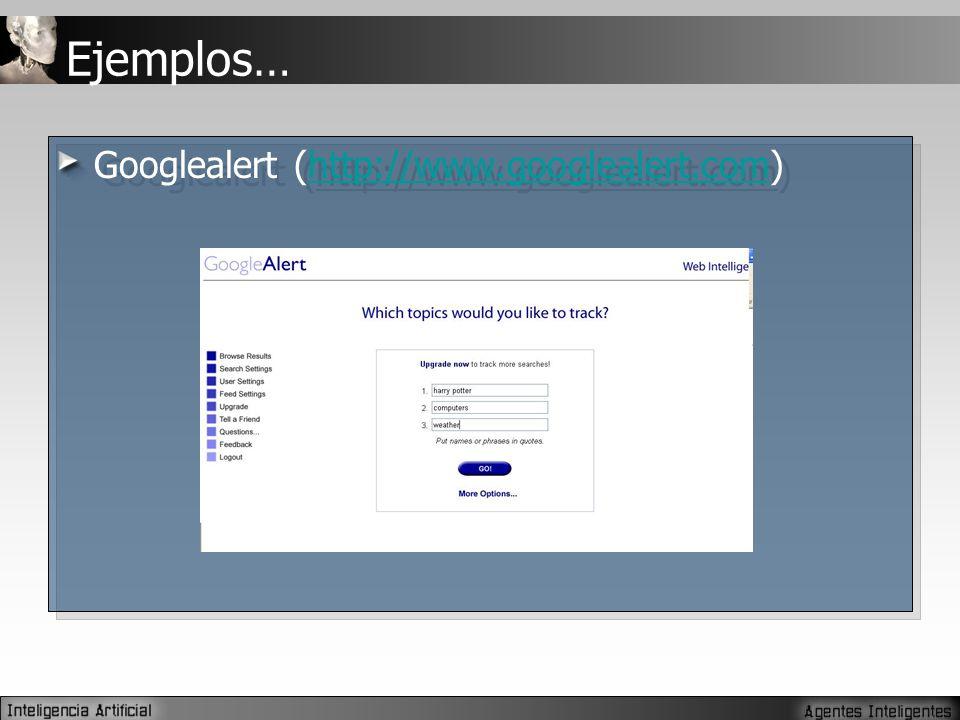 Ejemplos… Googlealert (http://www.googlealert.com)http://www.googlealert.com Googlealert (http://www.googlealert.com)http://www.googlealert.com