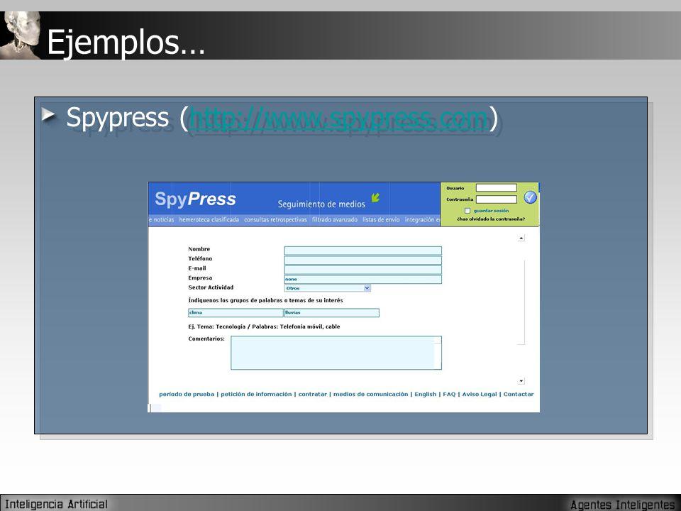 Ejemplos… Spypress (http://www.spypress.com)http://www.spypress.com Spypress (http://www.spypress.com)http://www.spypress.com