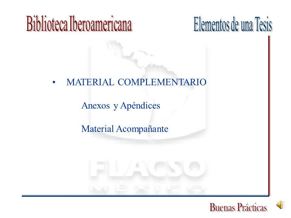 MATERIAL COMPLEMENTARIO Anexos y Apéndices Material Acompañante