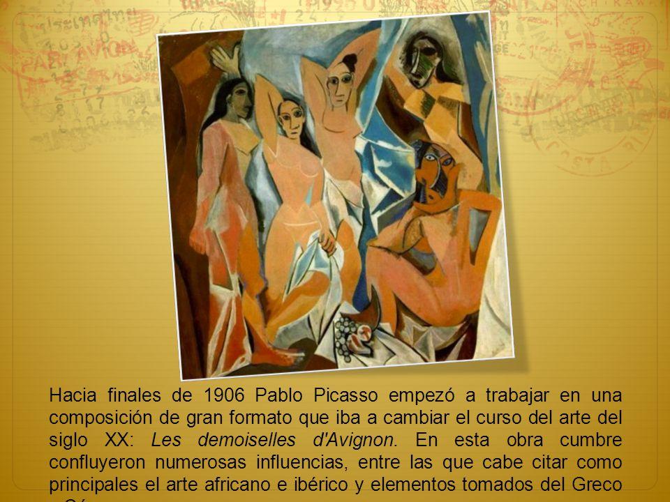 Hacia finales de 1906 Pablo Picasso empezó a trabajar en una composición de gran formato que iba a cambiar el curso del arte del siglo XX: Les demoise