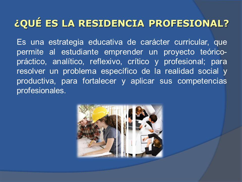 Es una estrategia educativa de carácter curricular, que permite al estudiante emprender un proyecto teórico- práctico, analítico, reflexivo, crítico y profesional; para resolver un problema específico de la realidad social y productiva, para fortalecer y aplicar sus competencias profesionales.