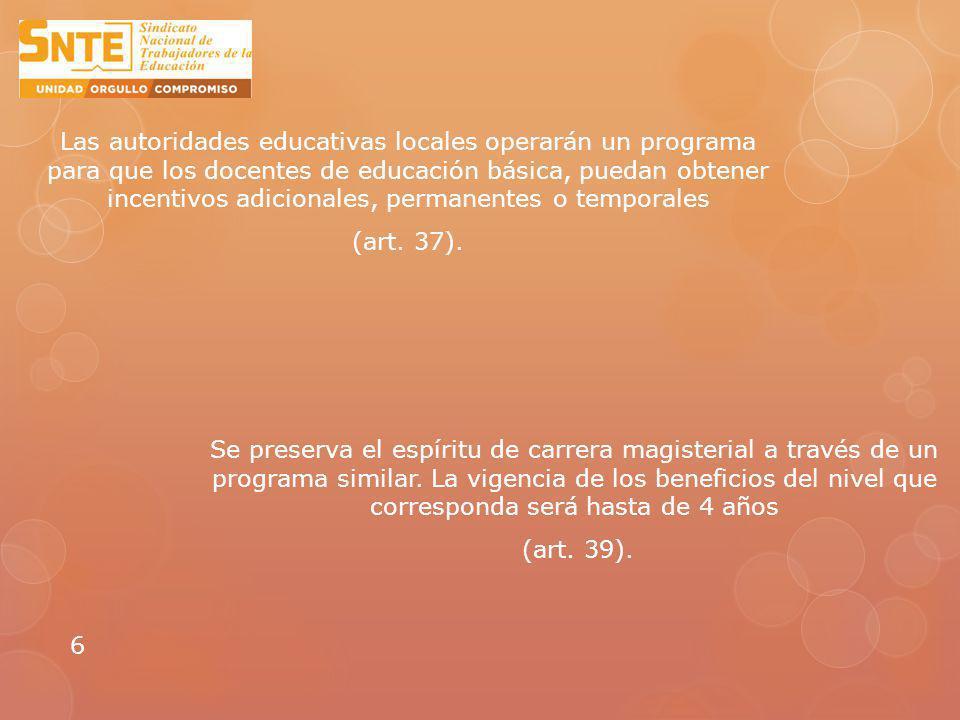 Se reconoce oficialmente la categoría de asesor técnico pedagógico (art.