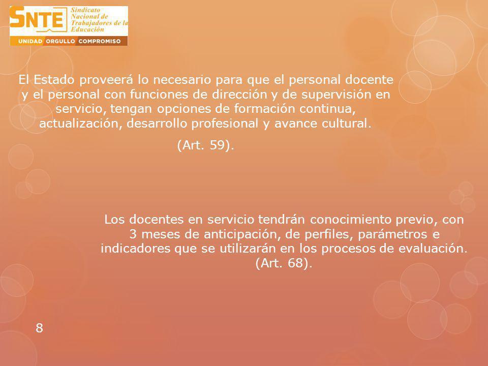 Los resultados de las evaluaciones, serán considerados datos personales y confidenciales.