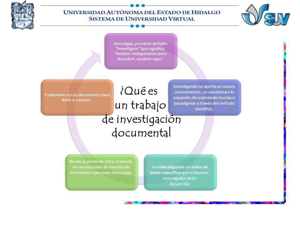 Investigar, proviene del latíninvestigare que significa:Realizar indagaciones para descubrir, analizar algo. Investigando se aporta un nuevo conocimie