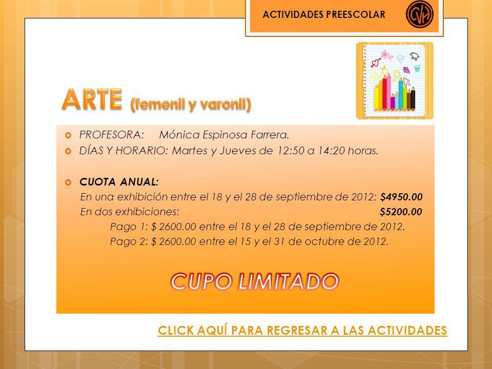 ACTIVIDADES PREESCOLAR CLICK AQUÍ PARA REGRESAR A LAS ACTIVIDADES