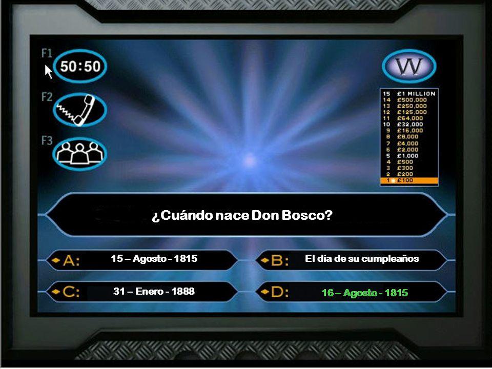 ¿Cuándo nace Don Bosco.