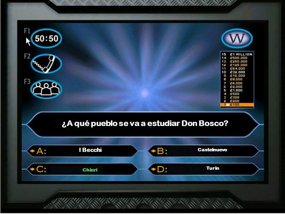 ¿Cómo se llama el capellán que ayuda a Don Bosco? Don Calloso Don Callaso Don Cafosso Don Cafasso Don Calloso