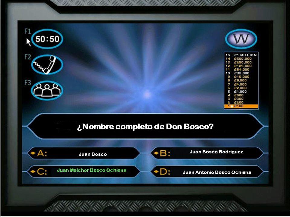 ¿Nombre completo de Don Bosco.