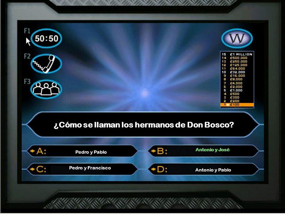 ¿Cómo se llaman los hermanos de Don Bosco.