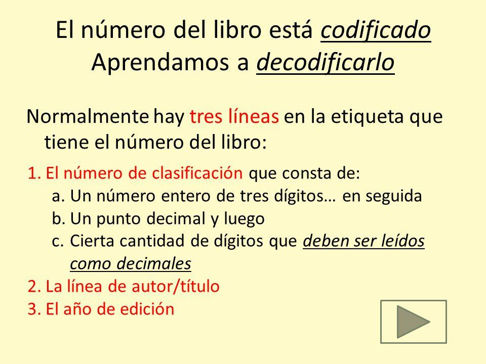 Antes de ir por él, entendamos la codificación que se utilizó para generar el número del libro