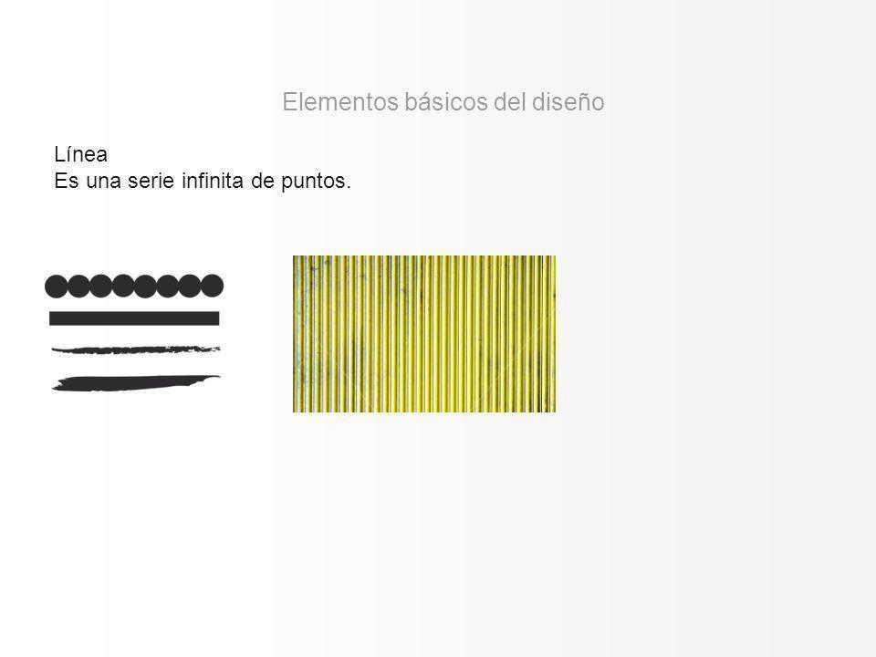 Línea Es una serie infinita de puntos. Elementos básicos del diseño