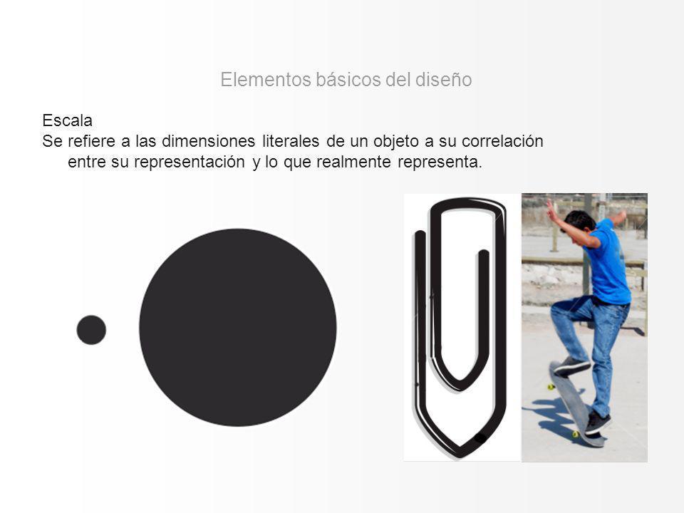 Escala Se refiere a las dimensiones literales de un objeto a su correlación entre su representación y lo que realmente representa. Elementos básicos d