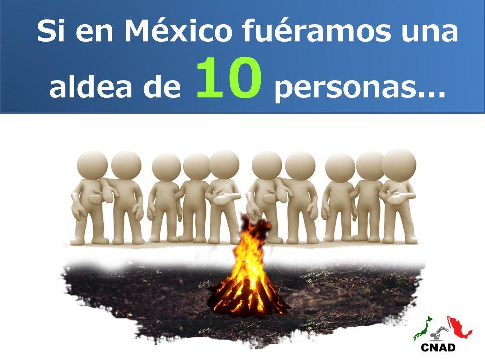 Si en México fuéramos una aldea de 10 personas...