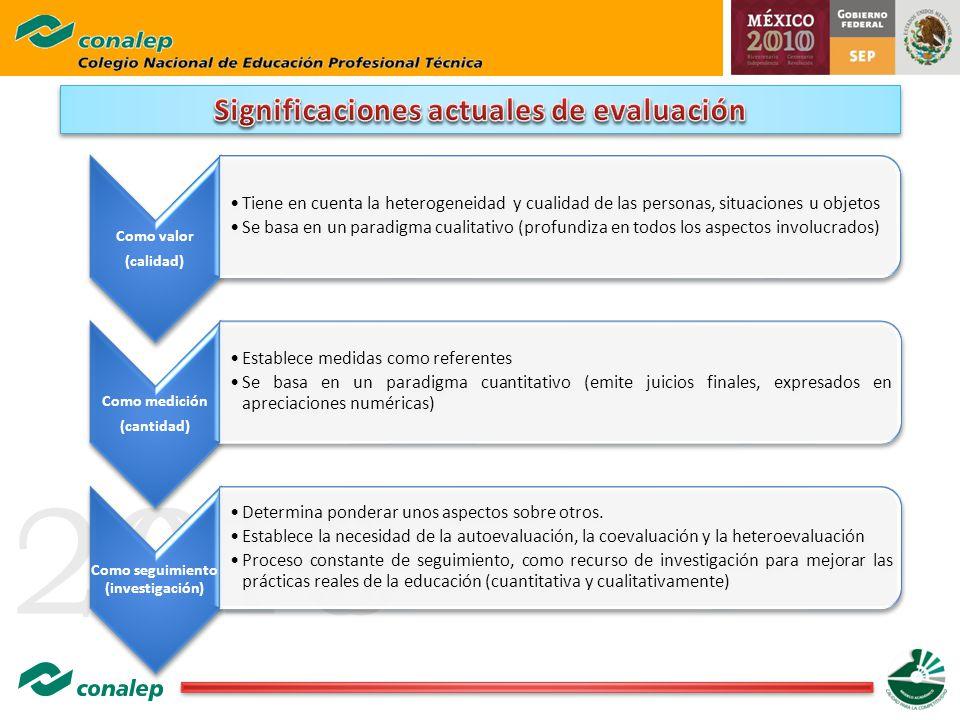20100 Como valor (calidad) Tiene en cuenta la heterogeneidad y cualidad de las personas, situaciones u objetos Se basa en un paradigma cualitativo (pr