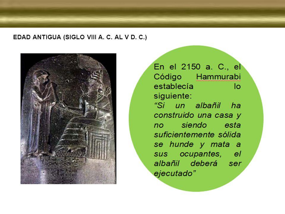 EDAD ANTIGUA (SIGLO VIII A. C. AL V D. C.)