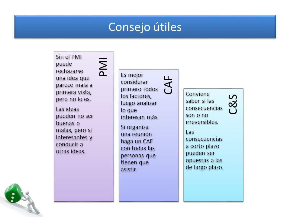 Consejo útiles APC FIP OPV AGO Es una misma situación, personas diferentes pueden tener diferentes objetivos.