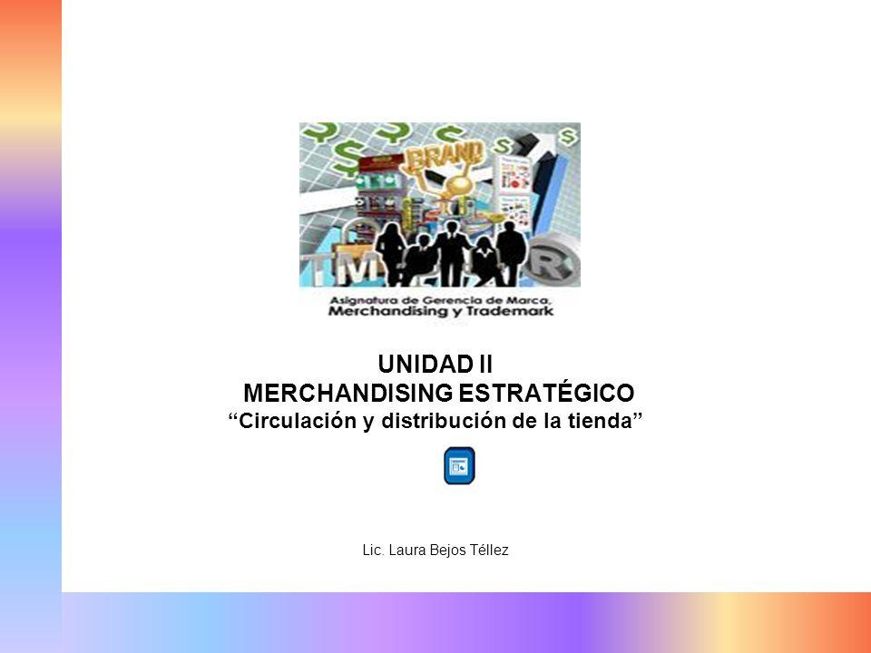UNIDAD II MERCHANDISING ESTRATÉGICO Circulación y distribución de la tienda Lic. Laura Bejos Téllez