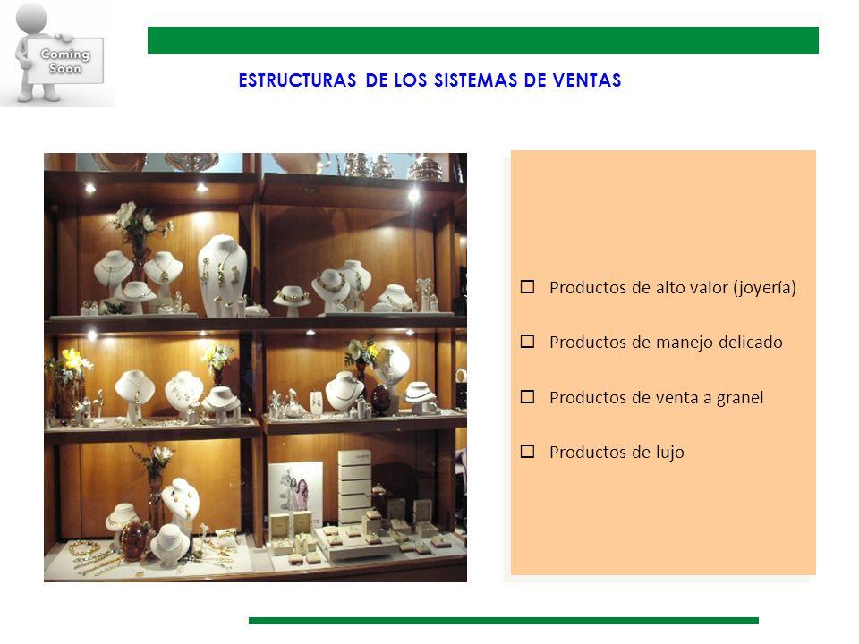 Productos de alto valor (joyería) Productos de manejo delicado Productos de venta a granel Productos de lujo Productos de alto valor (joyería) Product