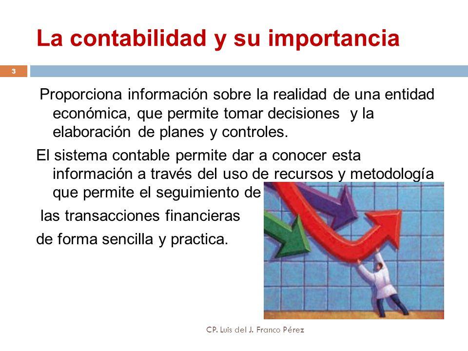 La contabilidad y su importancia Proporciona información sobre la realidad de una entidad económica, que permite tomar decisiones y la elaboración de