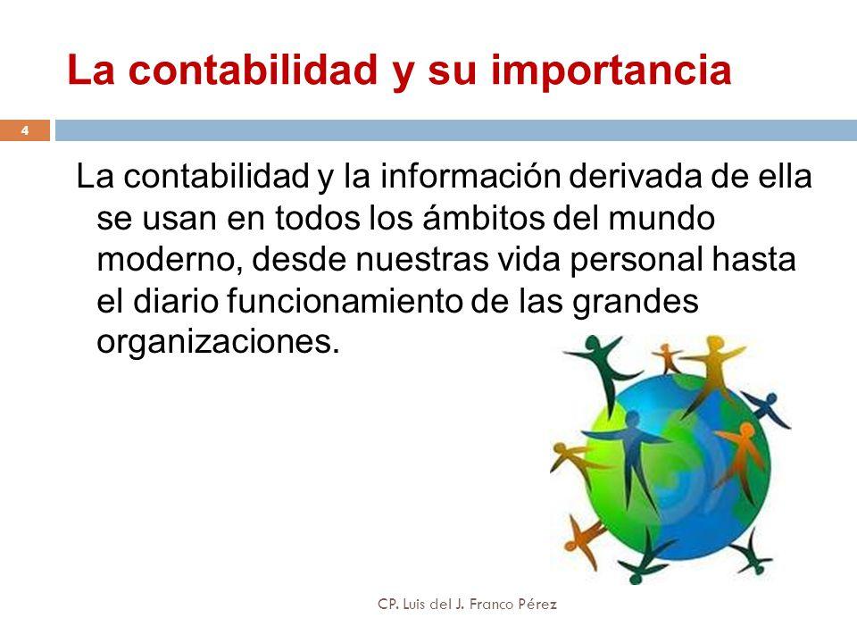 La contabilidad y su importancia La contabilidad y la información derivada de ella se usan en todos los ámbitos del mundo moderno, desde nuestras vida