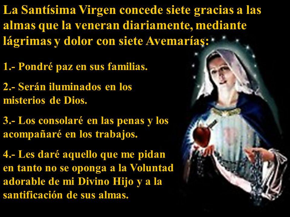 ( Dios te salve, María… ) Señora de la Soledad, por el silencio angustioso que se hizo en tu alma, recuérdame siempre que sin Dios nunca alcanzaré la alegría de la Resurrección.